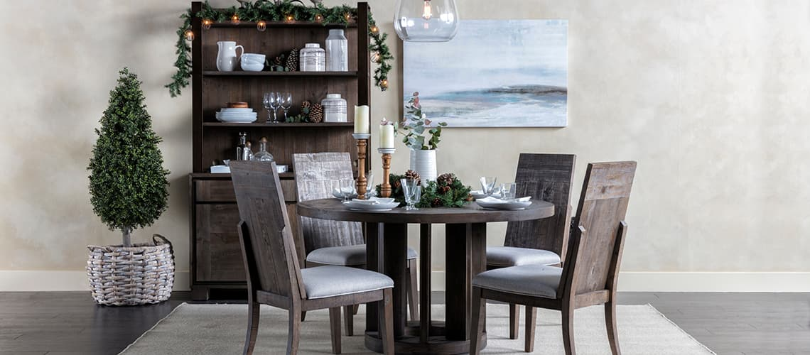 christmas rustic dining
