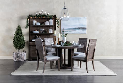 rustic dining christmas small dining table