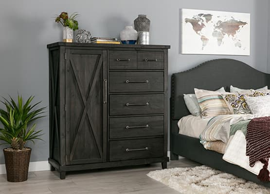small space storage - tall chest of drawers