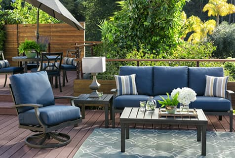 outdoor patio furniture mixed and match