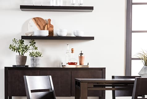 Modern Dining shelves