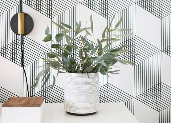 Neutral Planter Geometric Wall