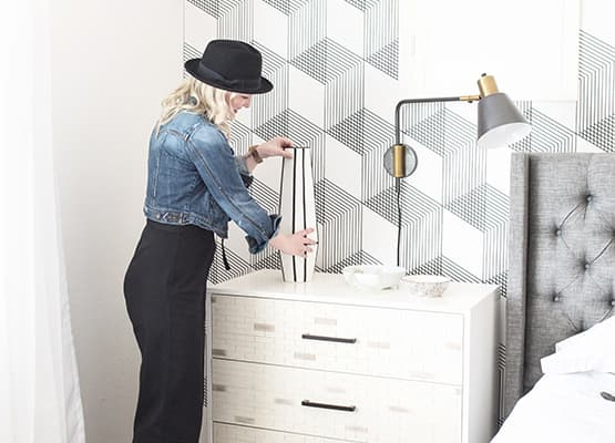 White Dresser Neutral Grey Decor