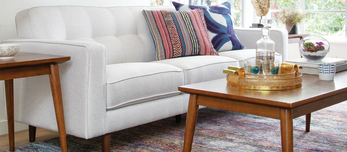 tapered leg sofa