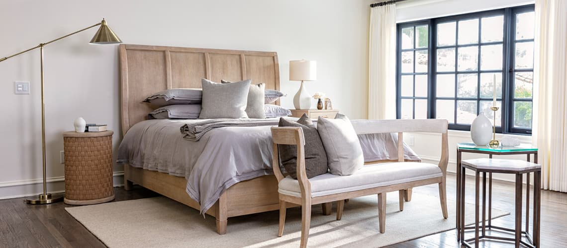 chic bedroom benches