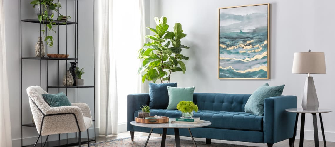 ocean blue couch