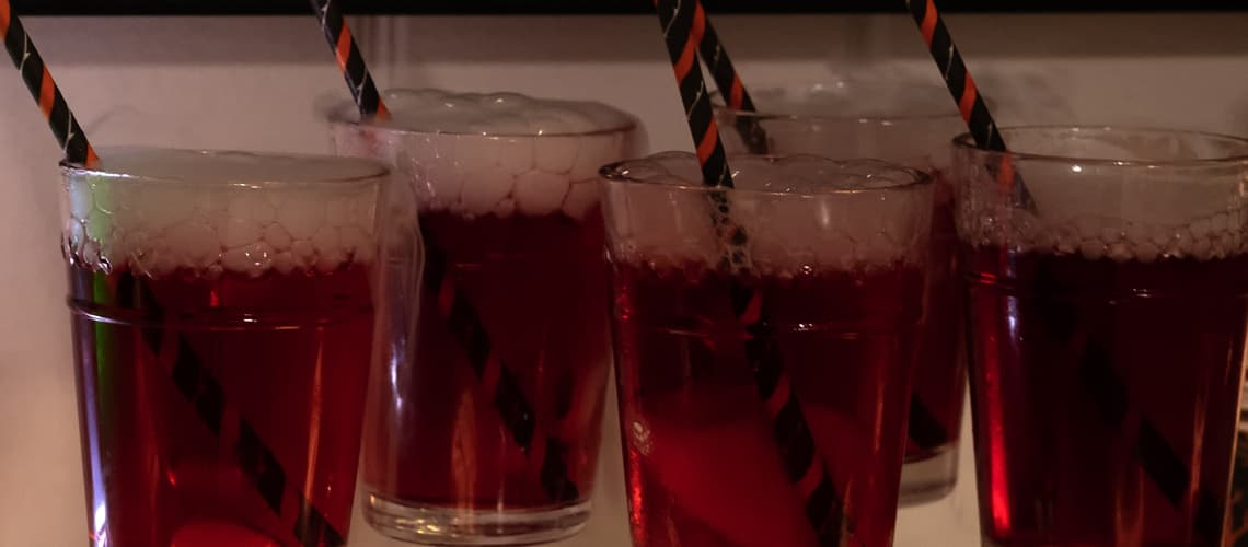 red fizzy drink