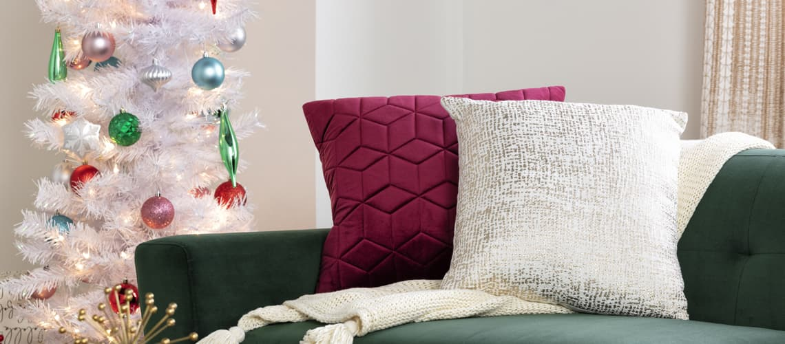 modern christmas pillows