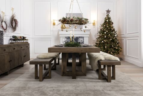rustic christmas dining decor