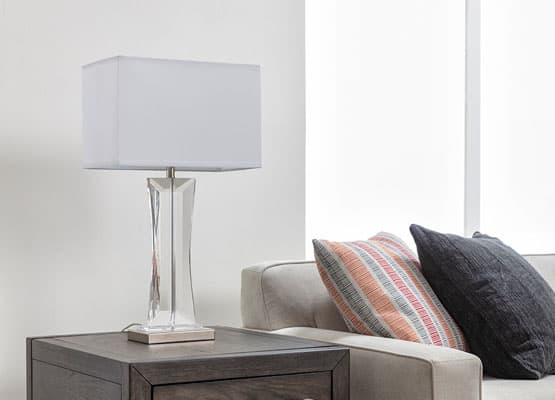 crystal lamp decor