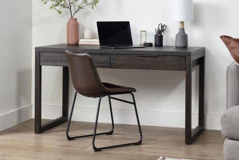 simple black desk
