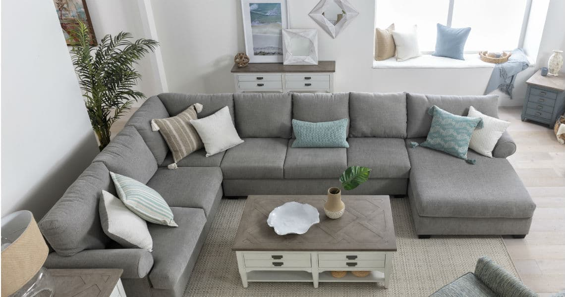 Picture of: Grey Sectionals Sectional Sofas Living Spaces