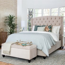 tufted bedroom featured mobile