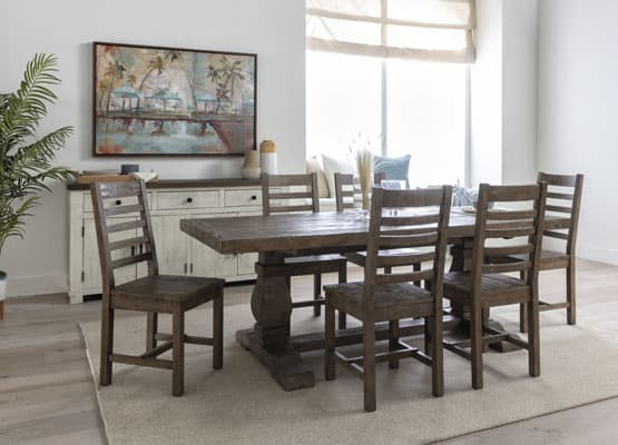 reclaimed dining