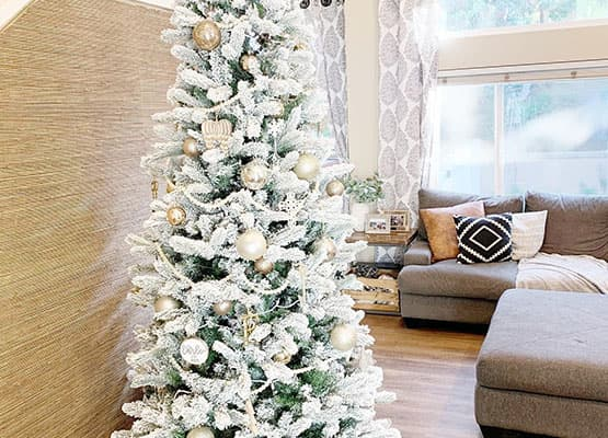 white christmas tree
