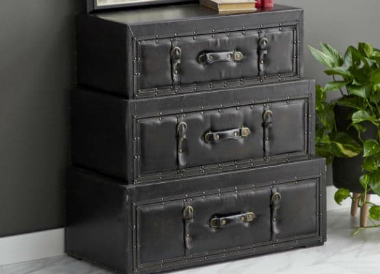leather hope chest