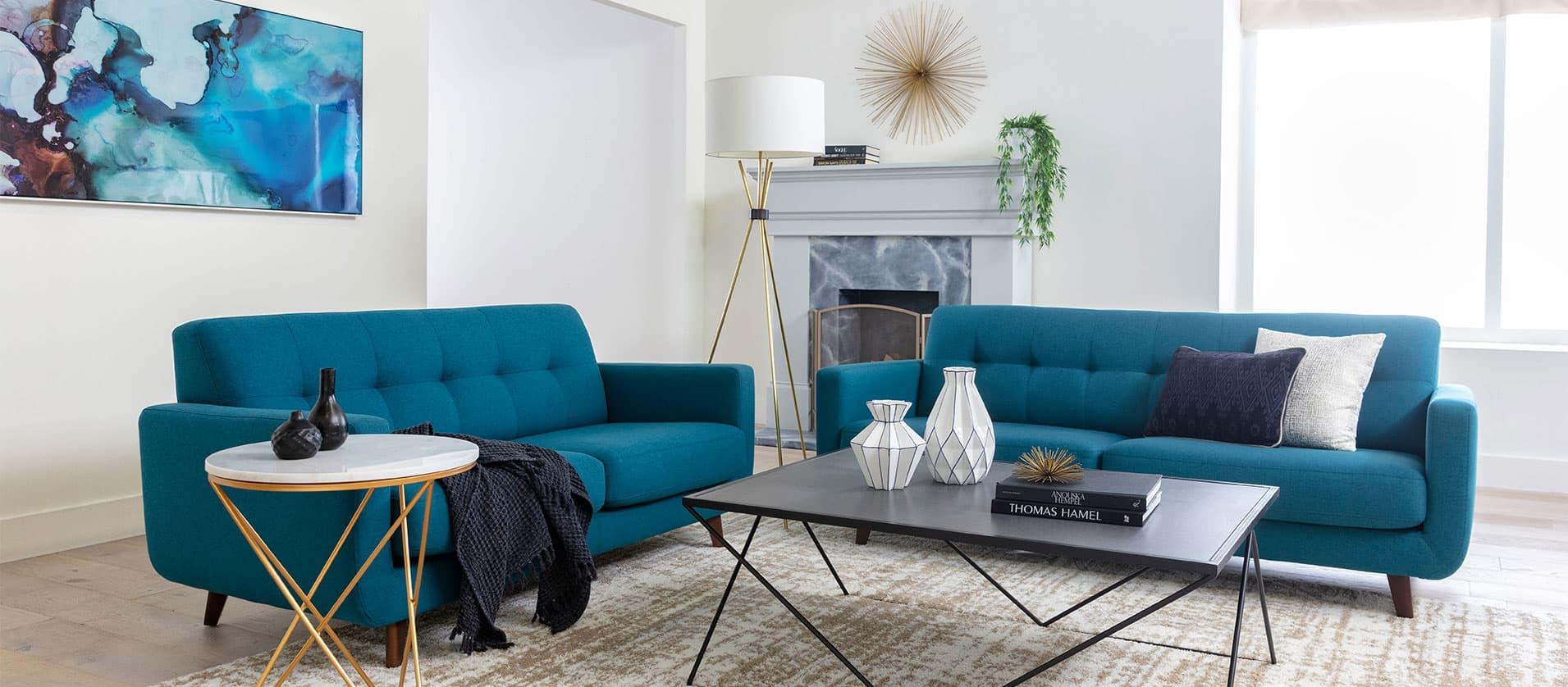 Blue Sofas | Buy 2020 Designs Online | Living Spaces