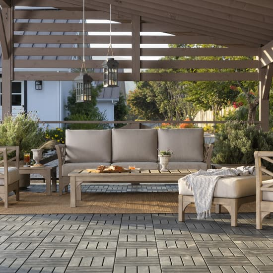patios furniture layout
