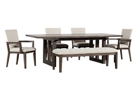 6pc Rectangle Dining Sets