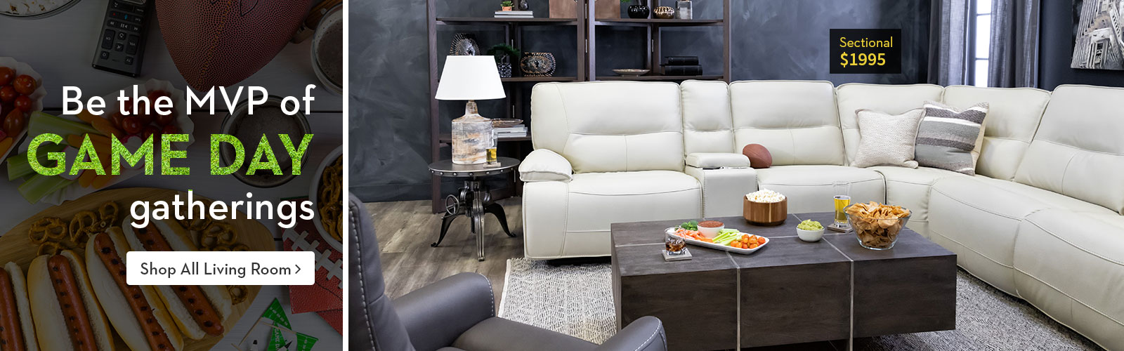 Game Day Sectional $1995