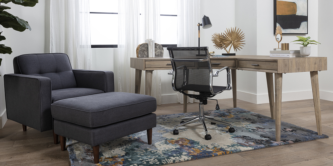 Modern Home Office with Allen Corner Desk