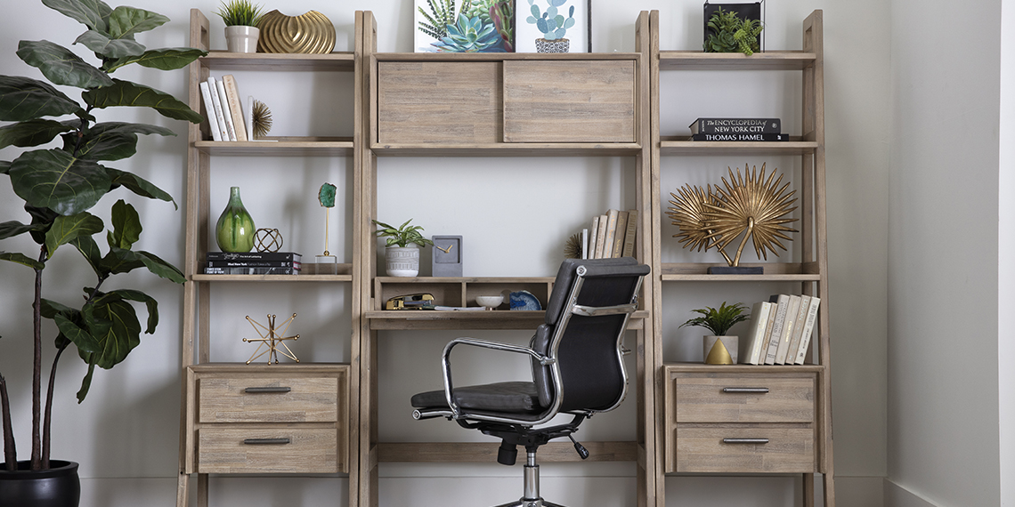 Modern Home Office with Allen 3 Piece Wall Desk With Piers