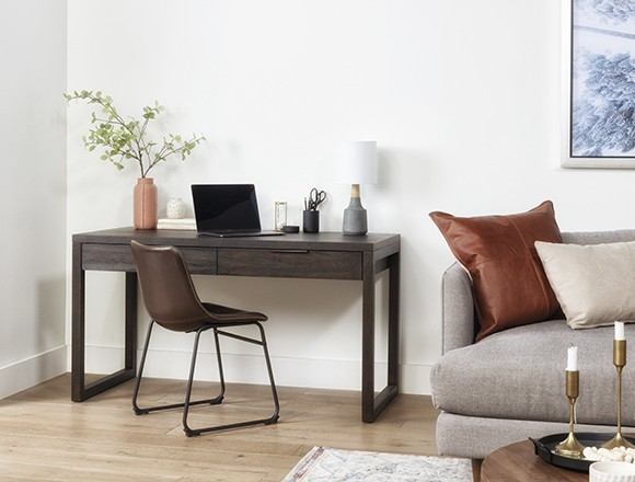 modern office design with pierce black writing desk