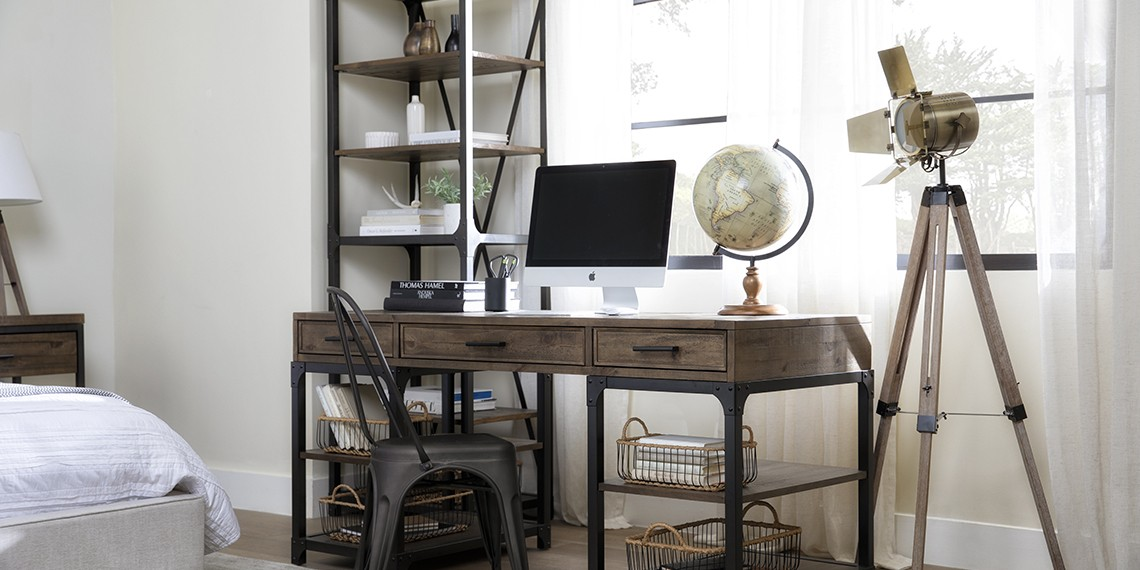 Industial Office Design with Foundry Writing Desk