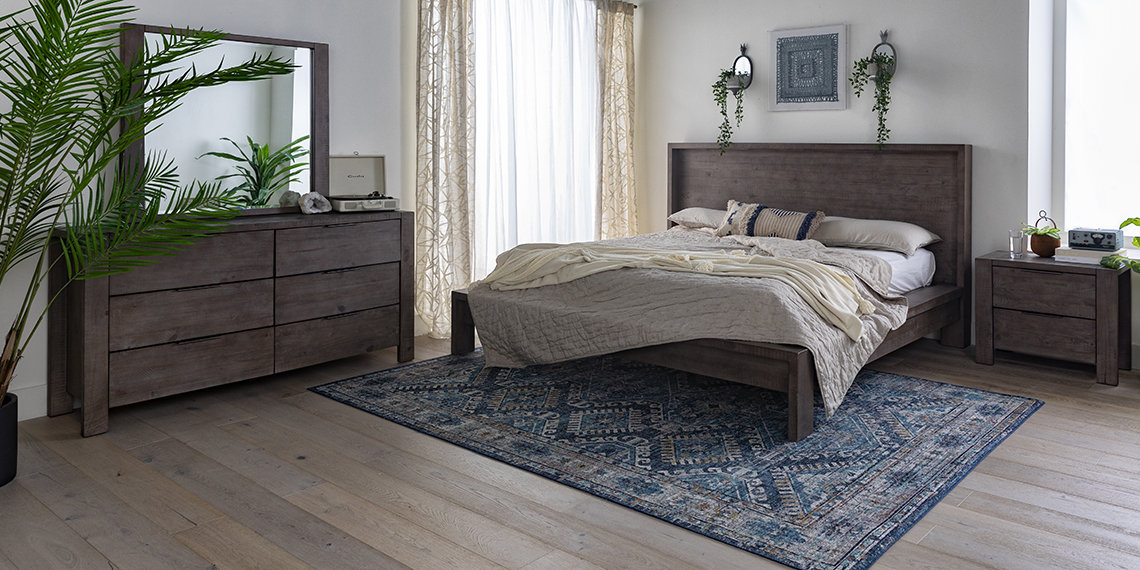 boho Bedroom with Regan Queen Platform Bed