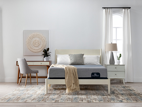 boho Bedroom with Alton White Queen Platform Bed