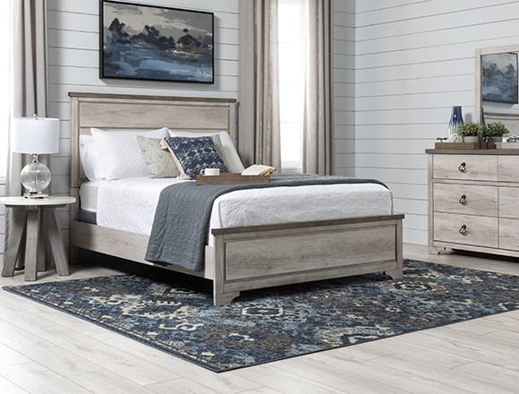coastal Bedroom with Cassie Queen Panel Bed