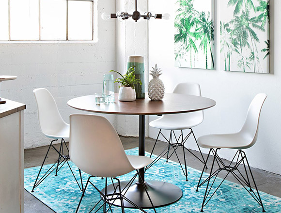 coastal Dining Room with Vespa Dining Table