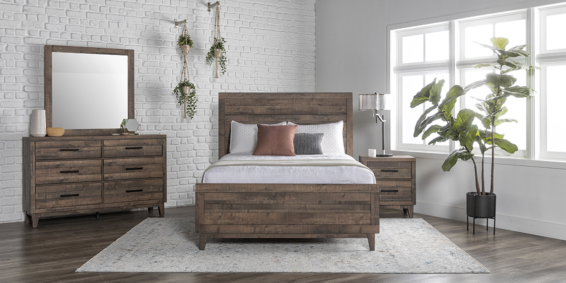 country-rustic Bedroom with Ranier Queen Panel Bed