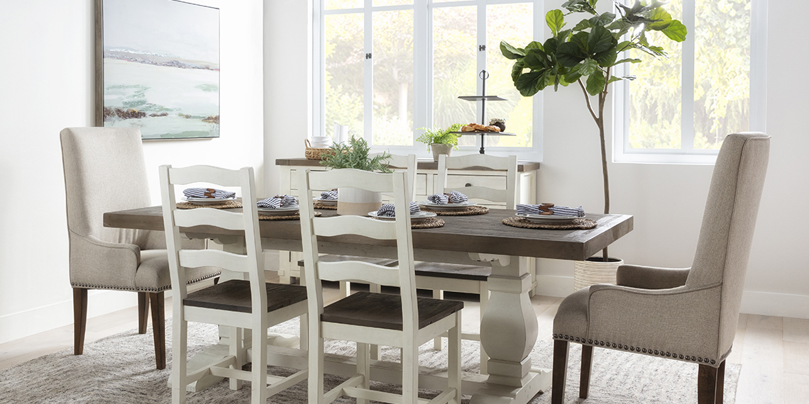 country-rustic Dining Room with Brentwood Rectangle Dining Table