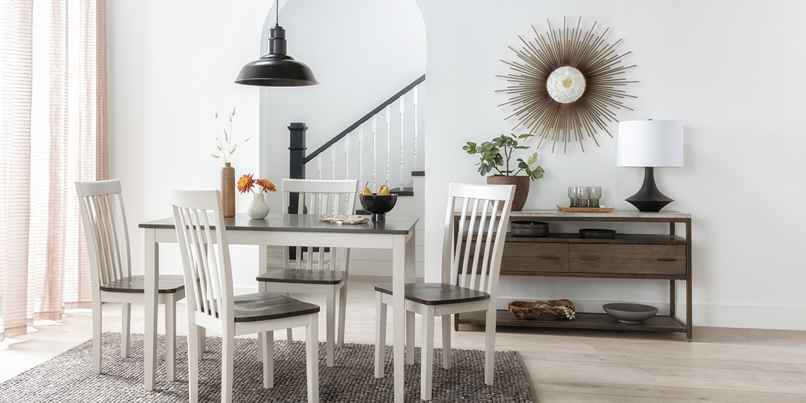 country-rustic Dining Room with Prairie 5 Piece Dining Set