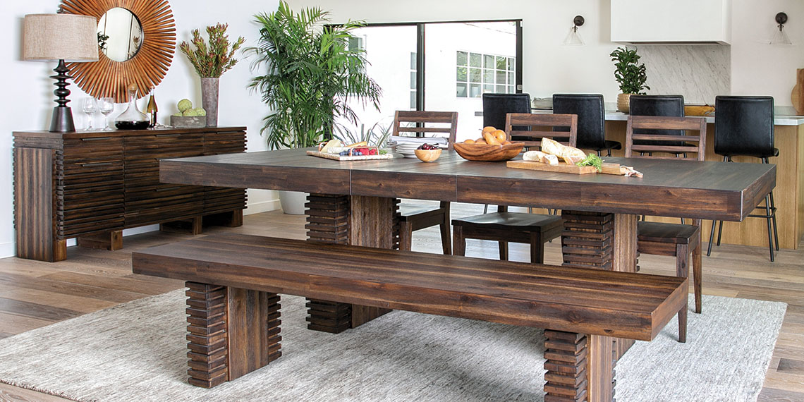 country-rustic Dining Room with Teagan Extension Dining Table