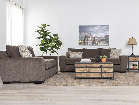 country-rustic Living Room with Parker II Sofa