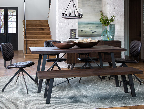 Industrial Dining Room With Omni Dining Table