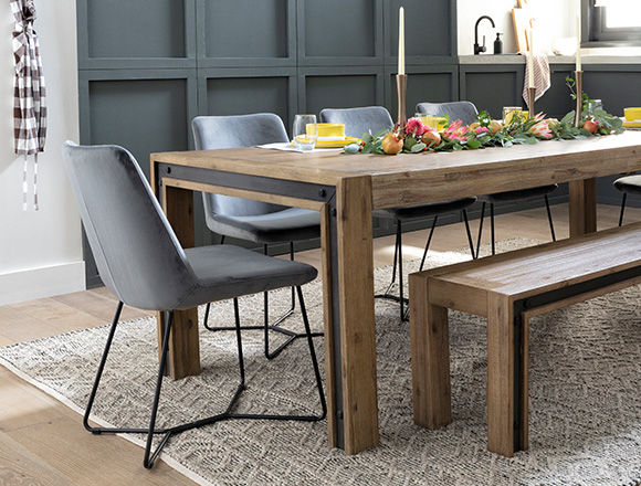industrial Dining Room with Amos Extension Dining Table