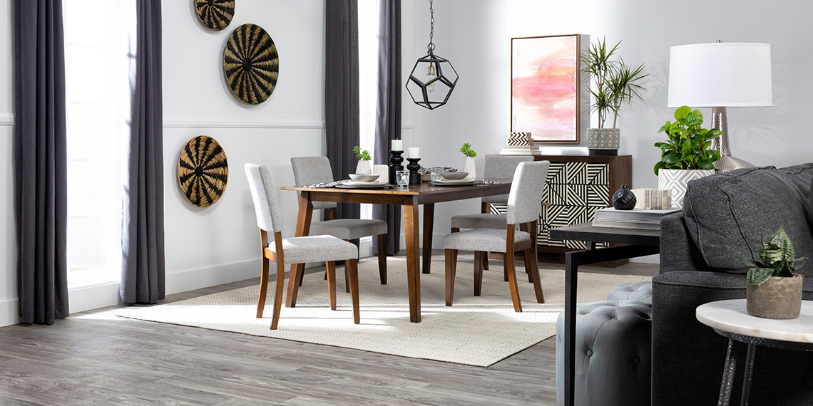 mid-century Dining Room with Cora 5 Piece Dining Set