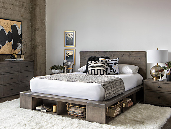 Modern Bedroom With Dylan Queen Platform Bed