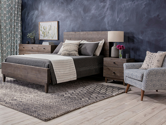 modern Bedroom with Ashton Queen Platform Bed
