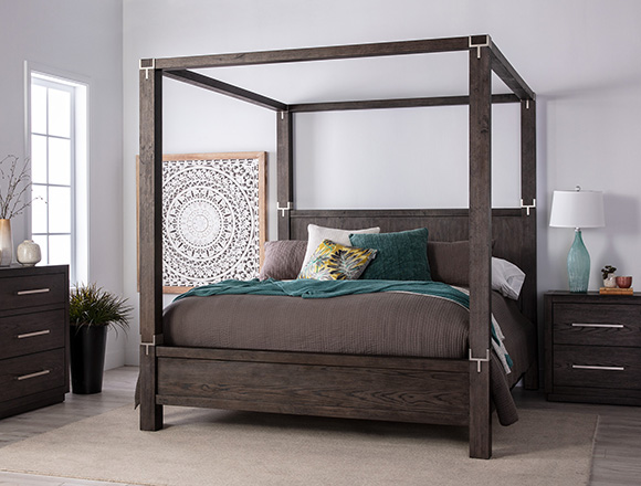modern Bedroom with Helms Queen Panel Storage Bed