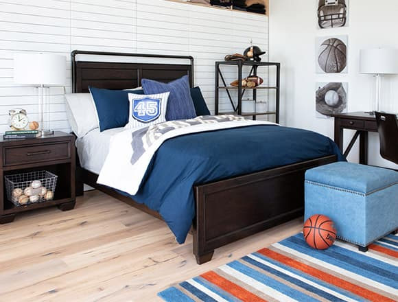 modern Bedroom with Elliot Twin Over Full Bunk Bed With Underbed Storage
