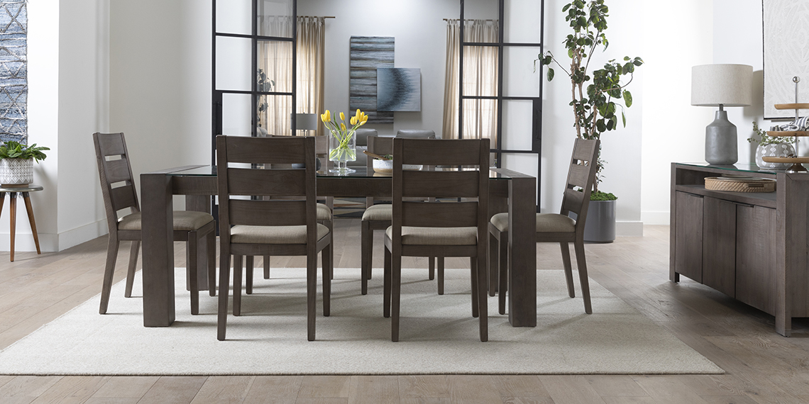 modern Dining Room with Regan Dining Table