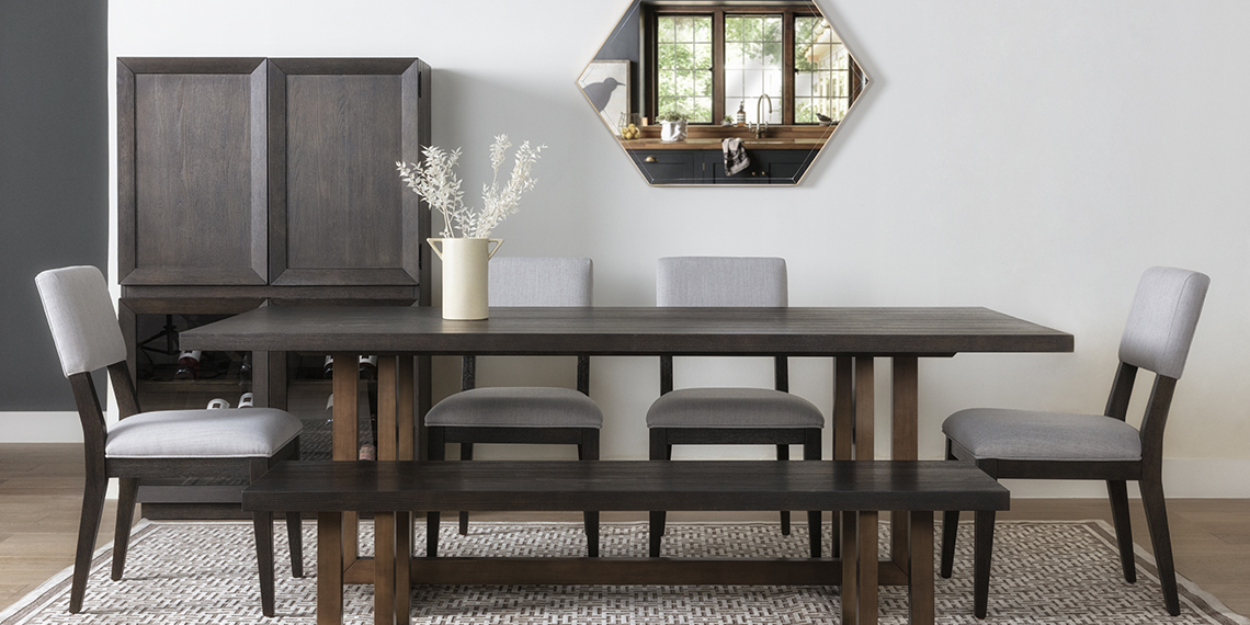 modern Dining Room with Pierce Black Dining Table