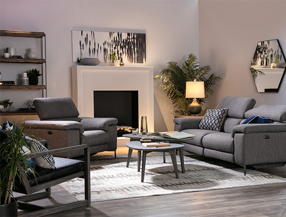 Modern Living Room With Talin Reclining Sofa W Usb