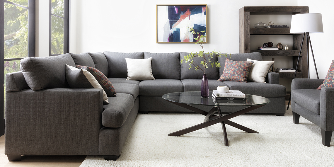 modern Living Room with Scott 2 Piece Sectional With Left Arm Facing Sofa