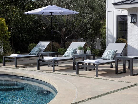 Modern Patio & Backyard with Ravelo Outdoor Chaise Lounge