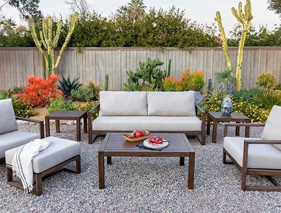 Modern Patio & Backyard with Carmen Outdoor Sofa